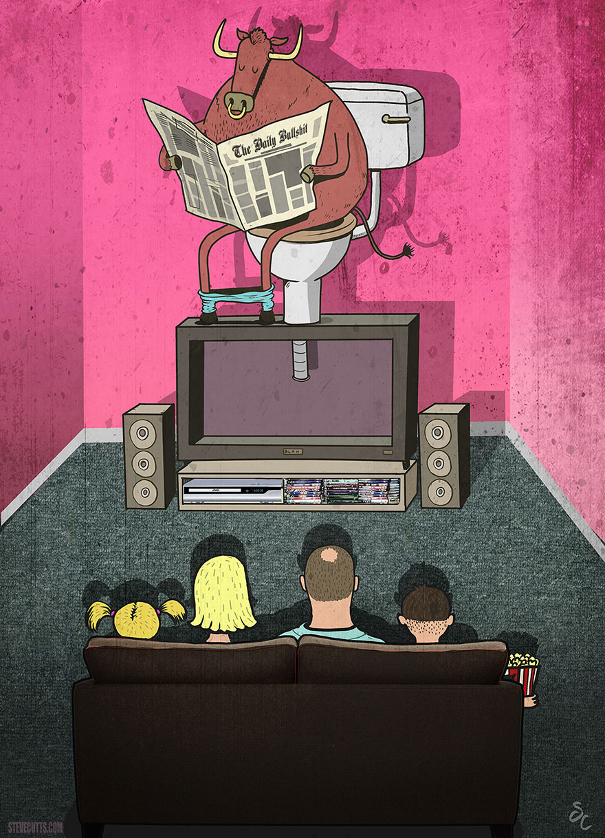 16 Amazing Illustrations By Steve Cutts Depicting The Dark Side Of Our Modern World
