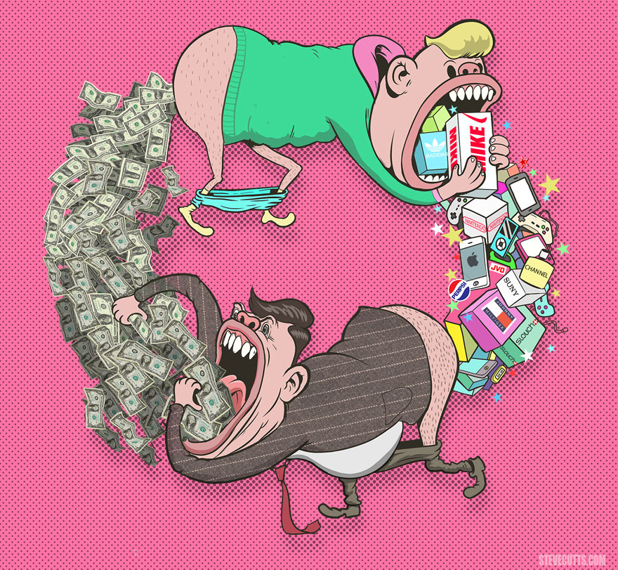 steve cutts, illustrations, paintings, images, amazing photos, pictures, creative, stuff, creativity, great work, modern world, modern society