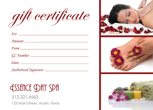 Gift Ideas for this holiday - Spa voucher