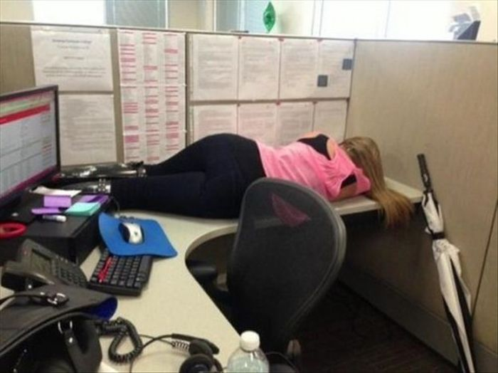 People Drunk at office do weird stuff