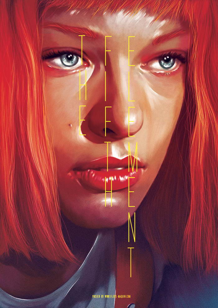 The Fifth Element, hollywood movies, hollywood, Flore Maquin, graphic design, designing, skills, art work, great job, paintings
