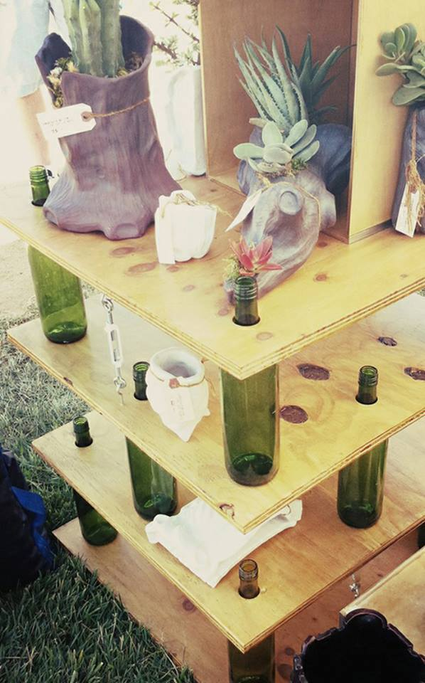 Use your old bottles as home decor