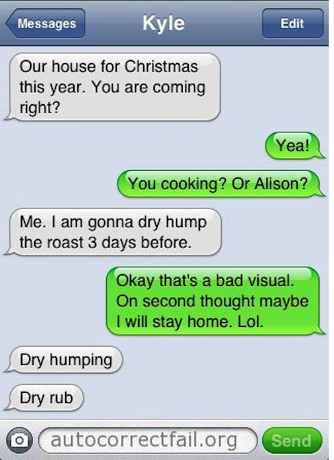 funny Autocorrect chats
