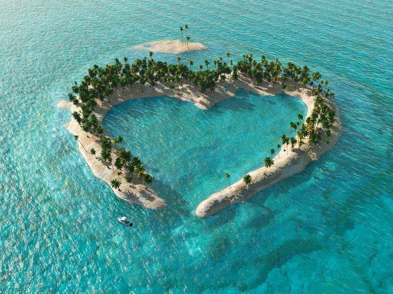 Nature Creating Heart With Art