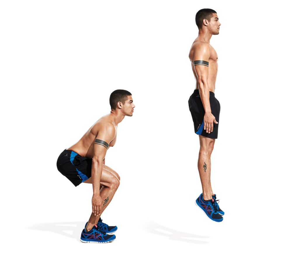 8 Types of Squats You Should be doing - Body Weight Jump Squat