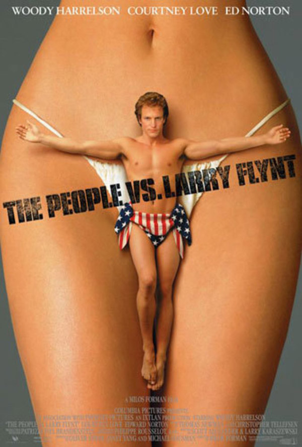Banned movie posters - The People Vs Larry Flynt