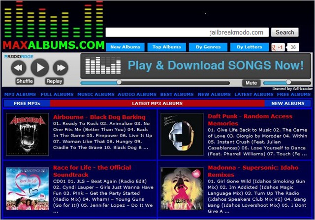 websites to download music from