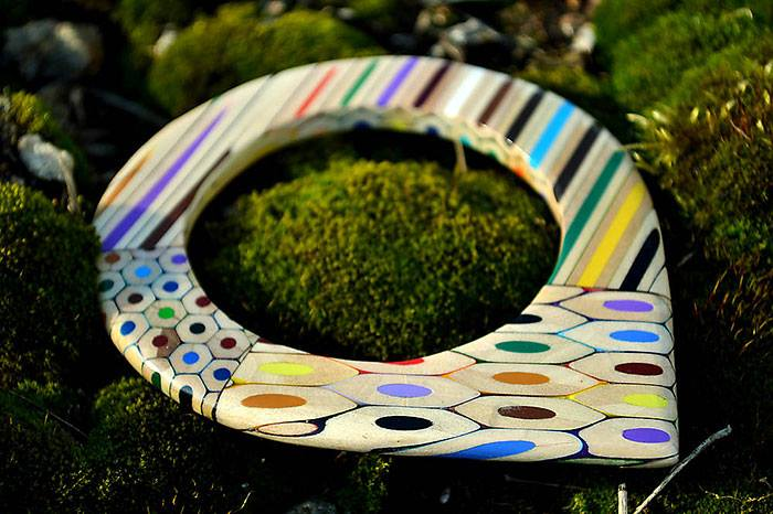 Jewelry Made From Coloured Pencils