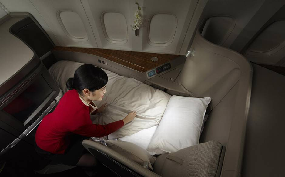 Most Luxurious Airline Seats - Cathay Pacific First Class