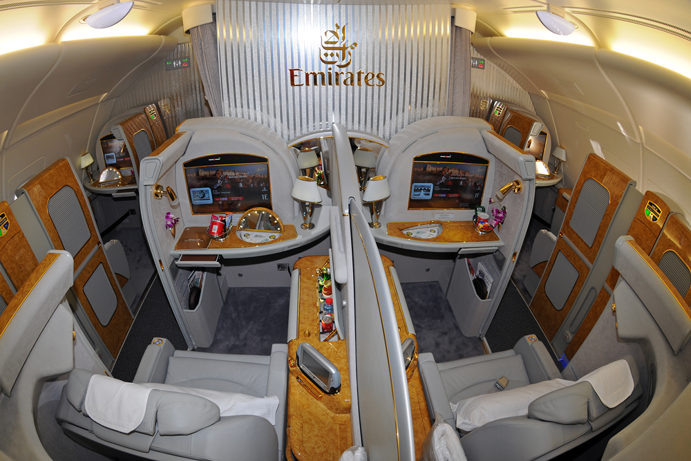 Most Luxurious Airline Seats - Emirates A 380 First Class