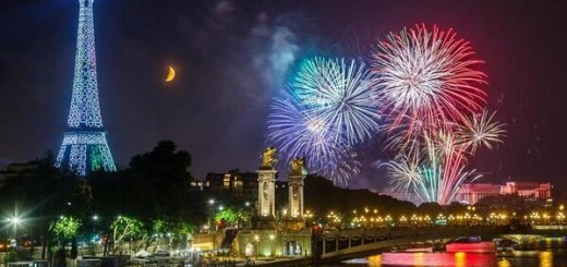 New Year at Paris, France