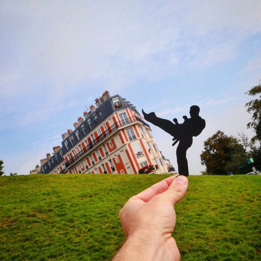 Rich McCor - Transforming landmarks using paper cutouts