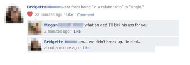 hilarious break up conversations, break up, funny break ups, hilarious, images, posts, facebook posts, funny facebook posts, funny facebook breakups, lol, laugh out loud, humor, laughing, relationship, single, complicated, must know, hilarious pictures, pics, images, photos, 14 Funniest Breakups Ever Happened On Facebook