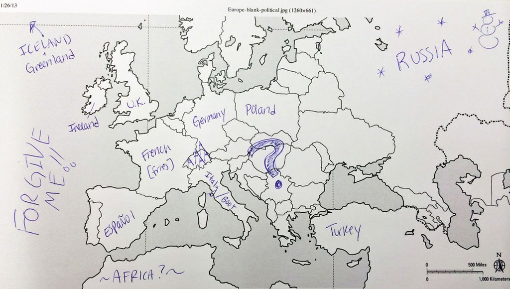 American Students Mark Map Of Europe (10)