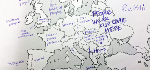 American Students Mark Map Of Europe (2)