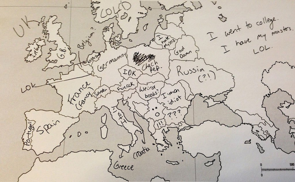 American Students Mark Map Of Europe (5)