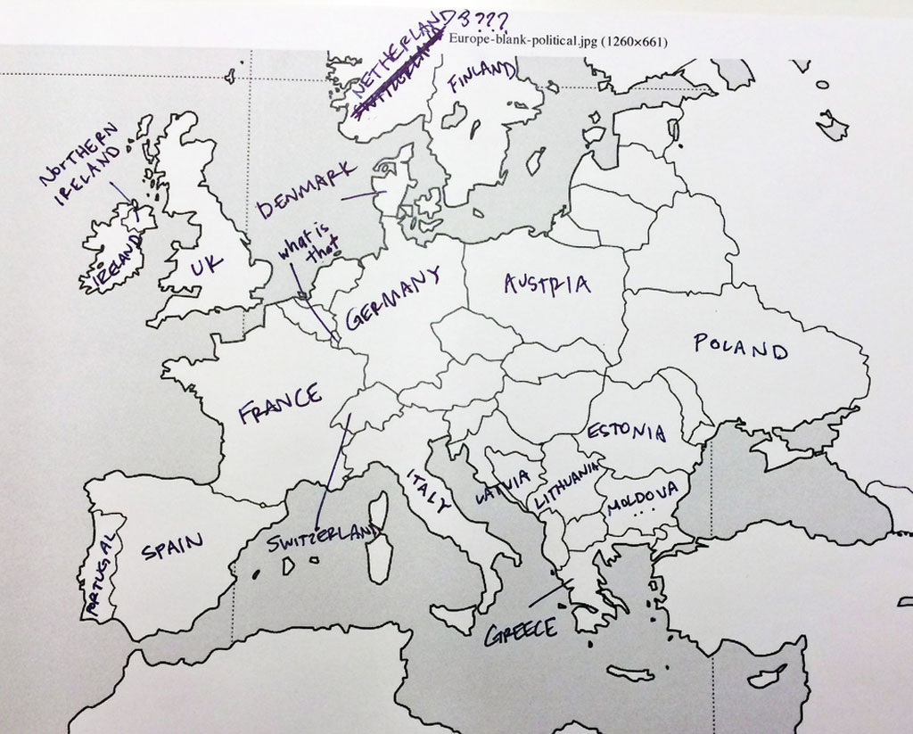 American Students Mark Map Of Europe (7)
