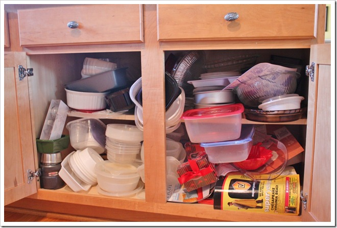 Decluttering The Cabinets