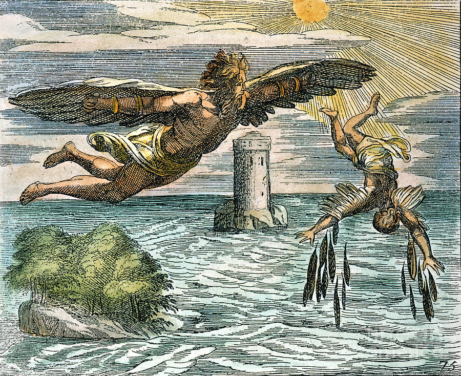 Fictional Characters that affected real world - Deadalus and Icarus