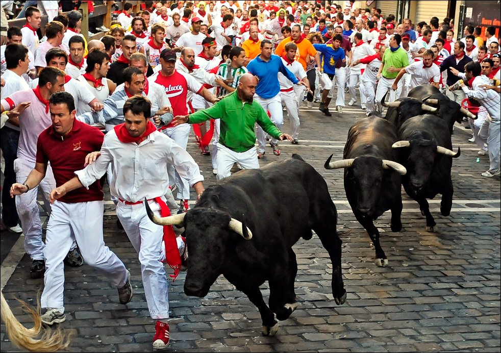 Most Dangerous Sports - Bull Running