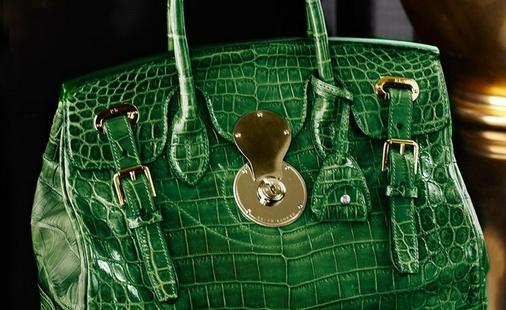 Ridiculously Expensive Guests - Ralph Lauren Alligator Ricky Bag