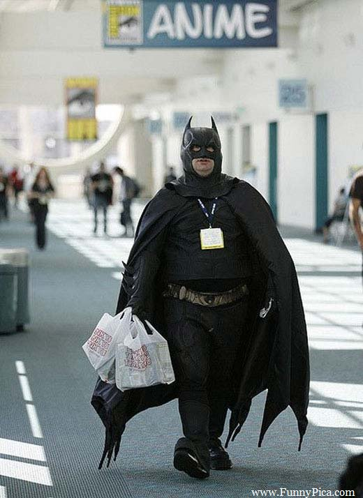 fat batman, fat funny batman