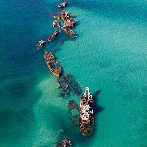 Sunken Ships At Bermuda Triangle