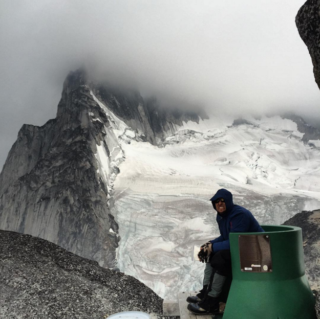Just chilling in Pigeon Spire, Canada