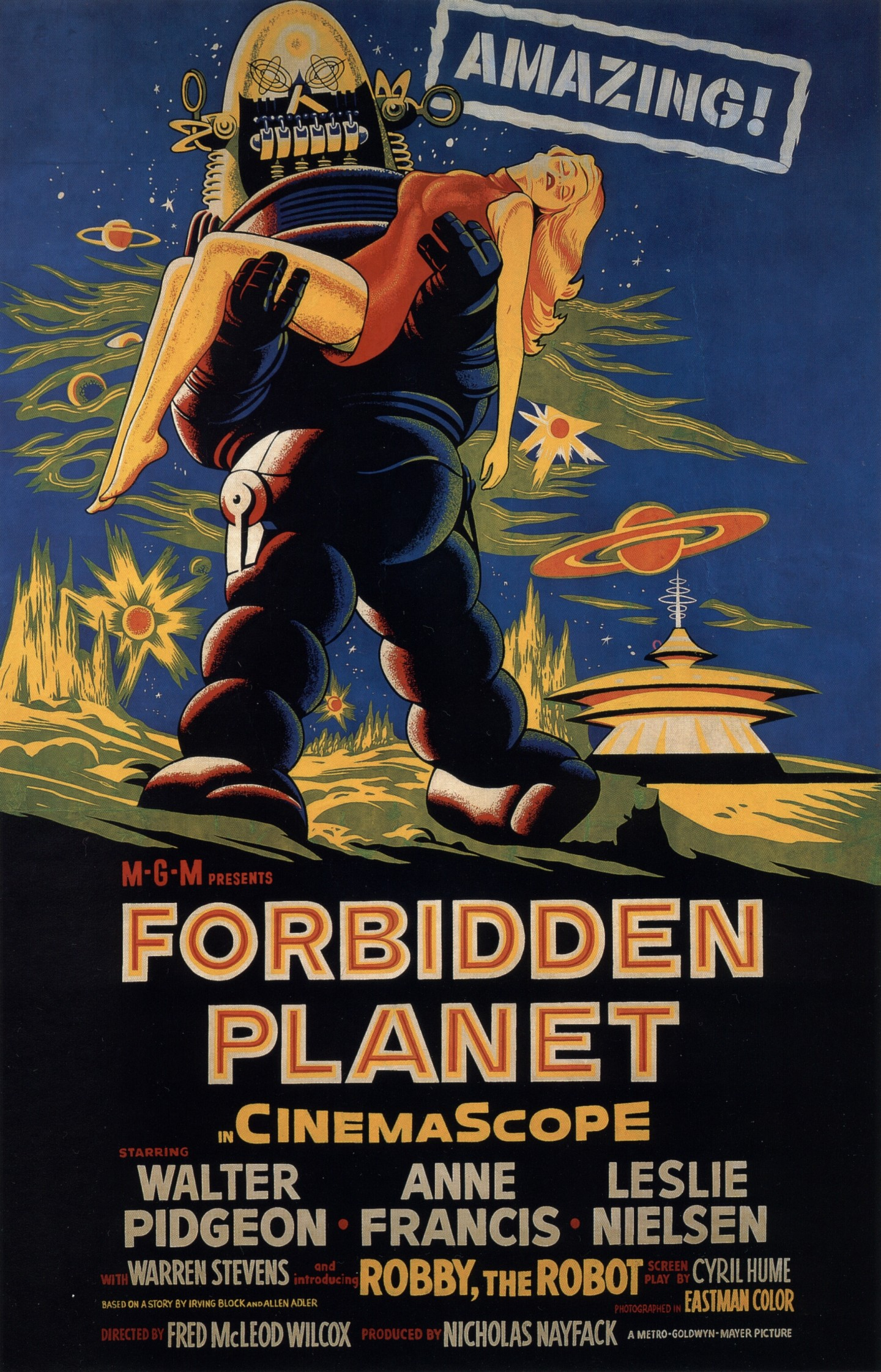 forbidden planet, forbidden planet movie, forbidden planet poster
