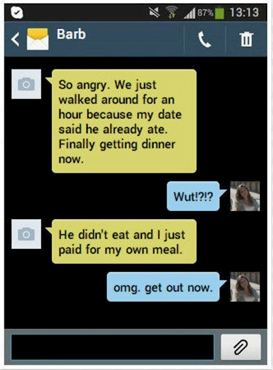 funny first date messages, first date messages
