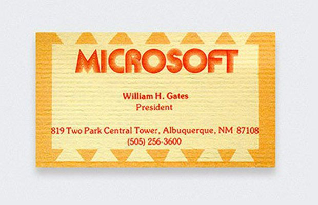 Bill Gates, Microsoft, Bill Gates business cards