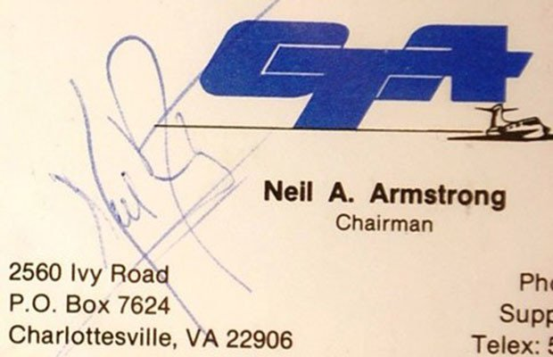 Neil Armstrong, Neil Armstrong business card