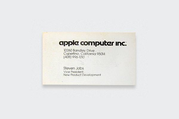 Steve Jobs, Steve Jobs business card
