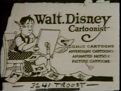 Walt Disney business card, Walt Disney