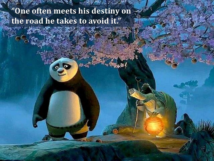 Inspiring quotes in Kungfu Panda, Kungfu Panga quotes