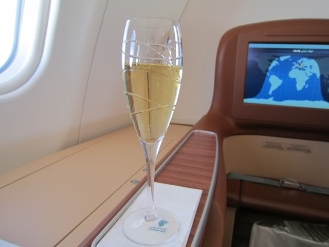 Champagne in Business Class