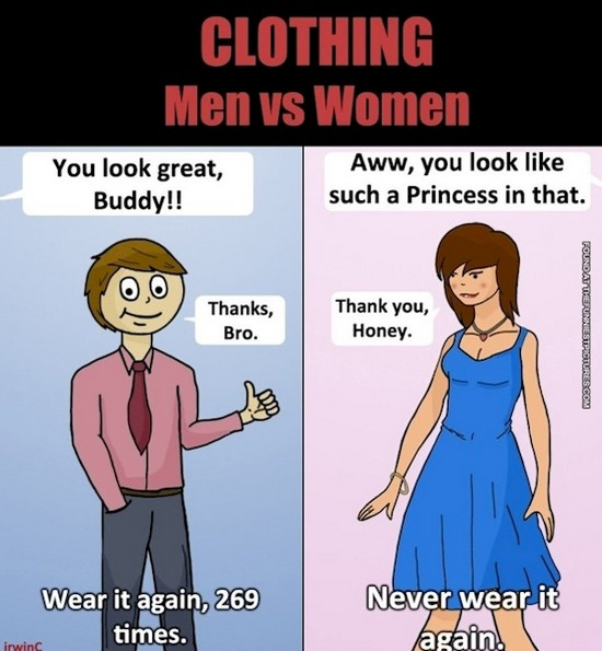 Funny pictures on men and women
