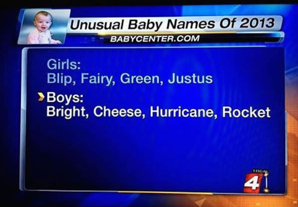 worst baby names, funny pictures, hilarious pictures