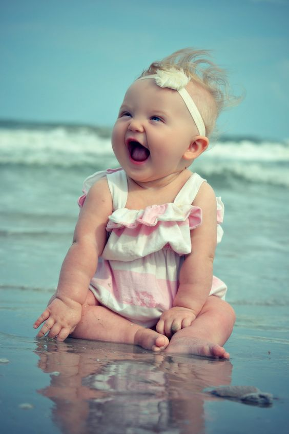 Cute babies, babies on beach