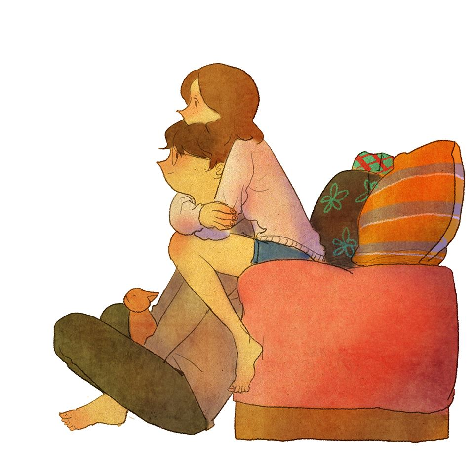 Cute love illustrations, illustrations, art