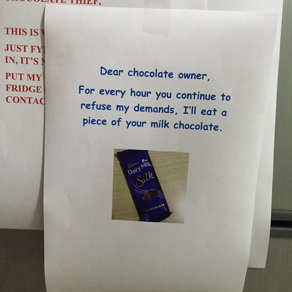 insane chocolate conversation, hilarious chocolate conversation, funny conversation in office, office humor