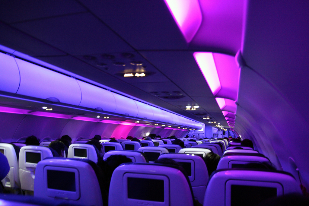 Lights inside the Plane