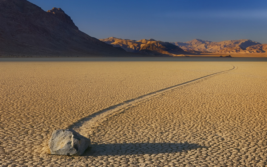 Mysterious places - Racetrack Playa, Death Valley, California