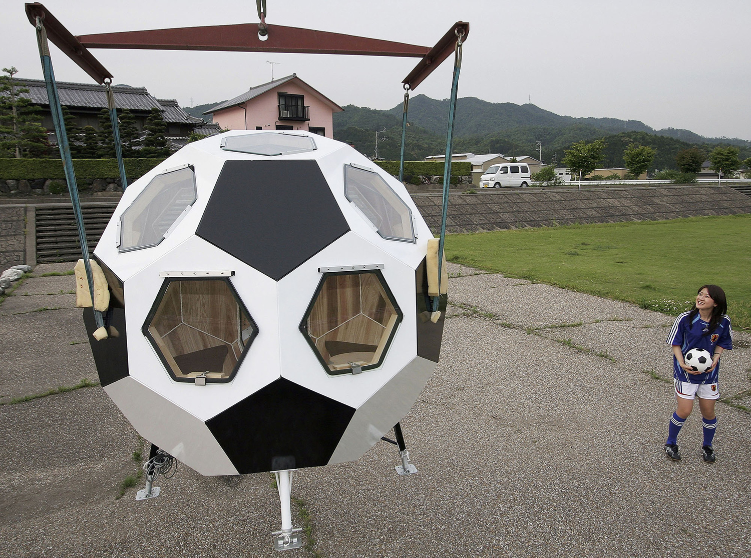 Strange Houses - Soccer ball shaped home