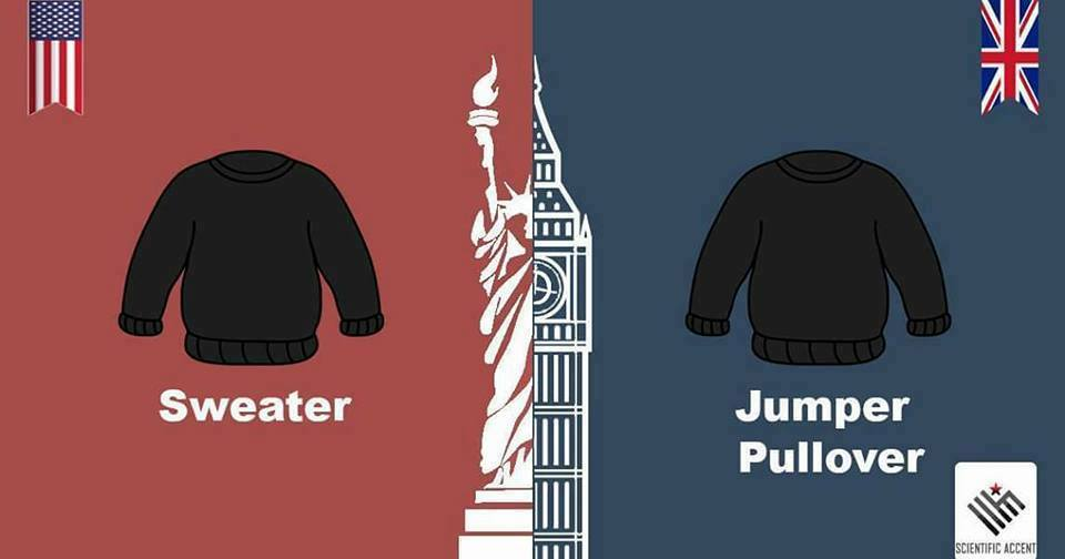 30 Common Items With Different Names in US and UK