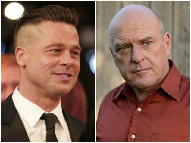 Brad Pitt and Dean Norris — 52 years old