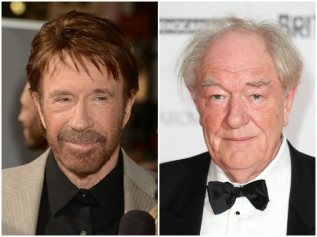 Chuck Norris and Michael Gambon — 76 years old