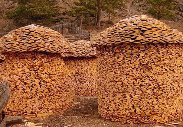 Creative Wood piles