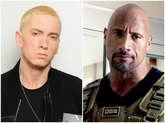 Eminem and Dwayne Johnson — 44 years old